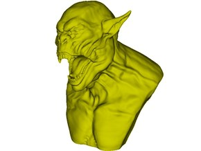 1/9 scale Orc daemonic creature bust  in Frosted Ultra Detail