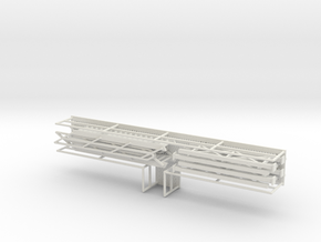 HO 1/87 Long Loading Platform for trailers in White Strong & Flexible