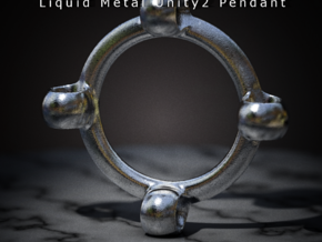 Liquid Metal Unity2 Pendant in Polished Bronze Steel