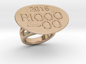 Rio 2016 Ring 16 – Italian Size 16 in 14k Rose Gold Plated