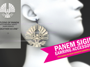 PANEM SIGIL EARRING ACCESSORY in White Strong & Flexible Polished