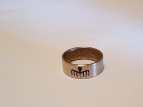SPECTRE Ring in Polished Nickel Steel