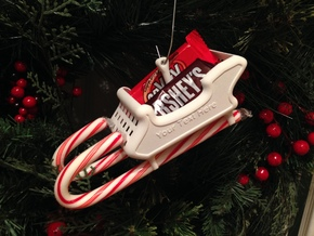 Candy Cane Sleigh in White Strong & Flexible