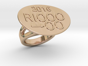 Rio 2016 Ring 20 - Italian Size 20 in 14k Rose Gold Plated