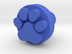 Dog paw footprint stamp, for leatherwork and stamp in Blue Strong & Flexible Polished