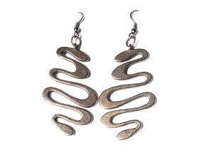 snake earrings in Stainless Steel