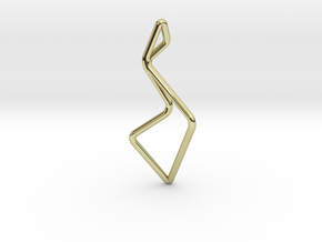 """A Line"" ENMOTION, pendant in 18K Gold Plated"