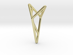 """""""A Line"""" Y2 pendant in 18k Gold Plated"""