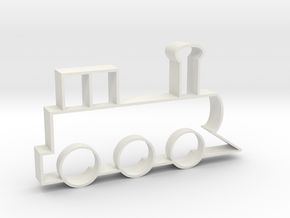 Cookie Cutter - Steam Locomotive in White Strong & Flexible