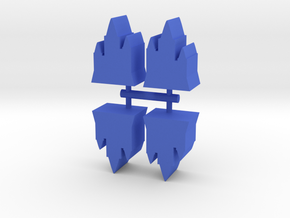 Game Piece, Castle Towers, 4-set in Blue Strong & Flexible Polished