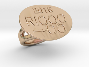 Rio 2016 Ring 28 – Italian Size 28 in 14k Rose Gold Plated