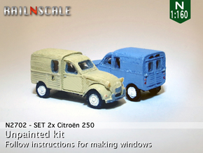 SET 2x Citroën 250 (N 1:160) in Frosted Ultra Detail