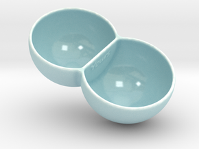 Double Ice Cream Bowl in Gloss Celadon Green Porcelain