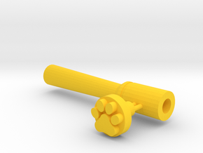Paw And Tool in Yellow Strong & Flexible Polished