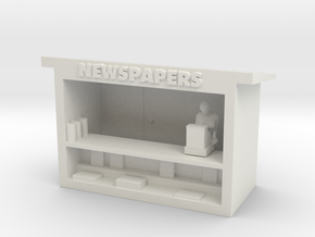 News Stand - HO 87:1 Scale in White Strong & Flexible