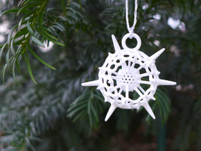 Spumellaria Ornament in White Strong & Flexible Polished