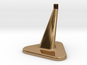 Model Stand / 3mm diameter on top / Hollowed 0,8mm in Polished Brass