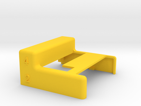 Commodore Chameleon 64 Dock Case w/ keyboard ports in Yellow Strong & Flexible Polished