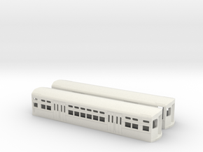 CTA 6000 Series, Late Curved Door Pair in White Strong & Flexible