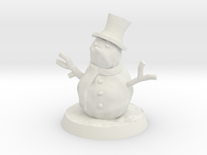 28mm/32mm Snowman in White Strong & Flexible