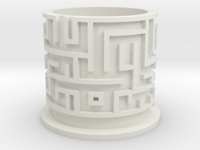 Maze Puzzle Bottom in White Strong & Flexible