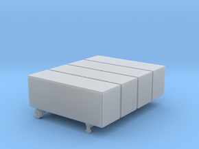 28 Foot Box Trailer - Set of 4 - Zscale in Frosted Ultra Detail