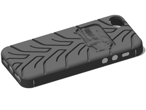 iPhone 5 Cadillac CTS A048 tread in Black Strong & Flexible