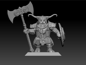 Dwarf Warrior 35mm Nº3 in Frosted Ultra Detail