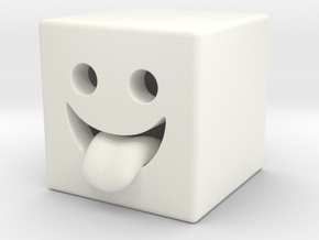 Robo Smile in White Strong & Flexible Polished