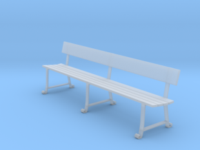 Wrought Iron station bench (HO) in Frosted Ultra Detail