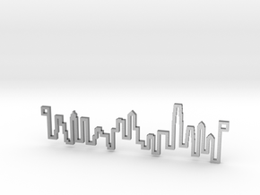 The original Hong Kong Skyline Line in Raw Silver