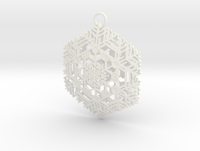 Snowflake2 in White Strong & Flexible Polished
