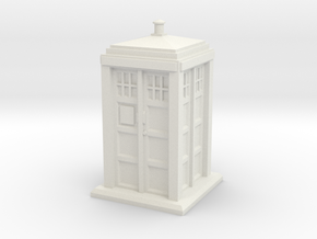 HO/OO Gauge - Police Box in White Strong & Flexible