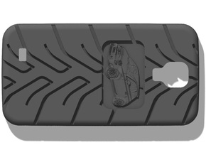 Galaxy S4 Fiat 500 A048 tread in Black Strong & Flexible
