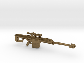 Barrett 50bmg Keychain Without Bipod in Raw Bronze