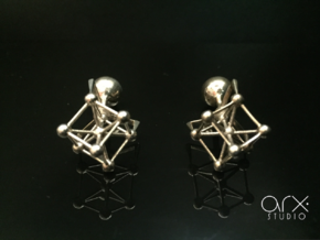 Atomium Cufflinks in Polished Silver