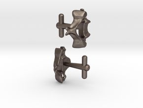 Anatomical Vertebrae C4 Cufflinks in Stainless Steel