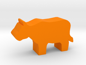 Cow Meeple in Orange Strong & Flexible Polished