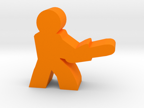 Game Piece, Character with Chainsaw in Orange Strong & Flexible Polished
