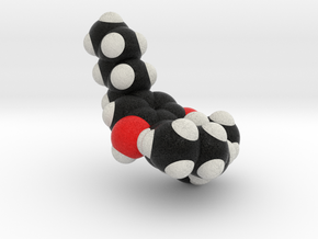 THC Molecule Model, Spacefill style in Full Color Sandstone