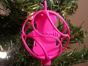 Teddy Bear Ornament - Custom in Pink Strong & Flexible Polished