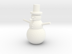 Snowman in White Strong & Flexible Polished