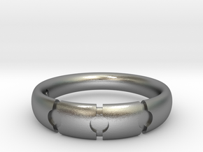 Enigmatic ring_Size 12 in Raw Silver
