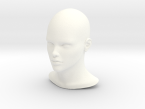 High Quality 1/4 SCALE FEMALE HEAD FIGURE in White Strong & Flexible Polished