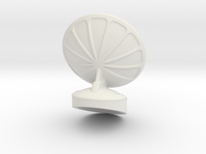 Free Standing Radar Dish 6mm Scale in White Strong & Flexible