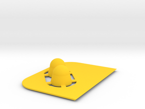 Button in Yellow Strong & Flexible Polished