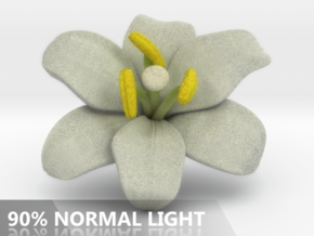 Lily Flower 1 - M in Full Color Sandstone