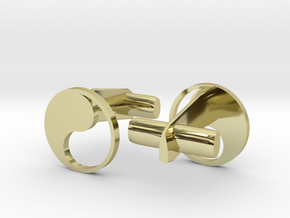 Yin Yang Hollow Cufflinks in 18k Gold