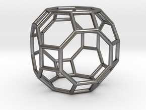 0286 Great Rhombicuboctahedron E (a=1cm) #001 in Polished Nickel Steel