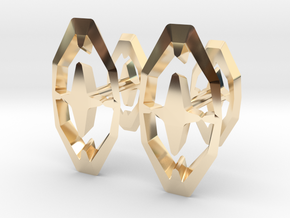 """""""Head To Head Again"""" 8H Cufflinks (customizeable) in 14K Gold"""